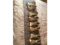 Bridesmaid shoes heels x6