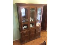 Glass display unit and sideboard Antique Retro Dinning Living room furniture