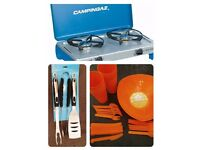 CAMPING BUNDLE - **Brand New** Camping Cooker Stove and Camping Equipment Utensils
