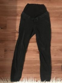 Black maternity jeans size 10R