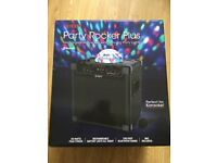 ION Party Rocker Plus - Bluetooth, 2 Mic Input For Karaoke, Built-in Chargable Battery, Disco Lights