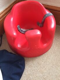 Bumbo with tray red Mint condition !!