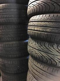 Part worn tyres most sizes 14 15 16 195 205 185 175 50 55 60 65