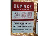 West Ham Football Programmes / Hammer / Publications (Various) £5 ea.