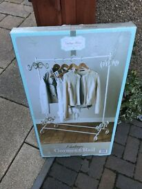 Vintage Cream Clothes Rail