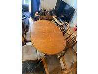 Pine Dining Table & Chairs: Pickup or Deliver