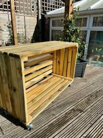 Bespoke moveable indoor/outdoor log store