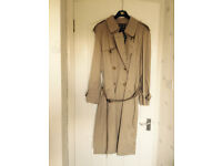 Mens's Genuine Burberry Military Trench Coat.