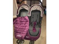 Double baby jogger buggy