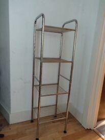 Metal shelf unit - chrome