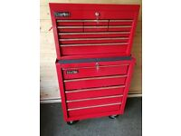 Clarke Mechanics Roll Cab with 5 drawers and toolchest with 9 Drawers - Both Excellent condition