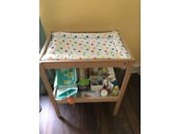 Baby Changing Table and Mat - Perfect Condition