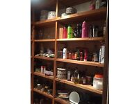 Wooden shelving great condition