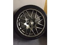 Riva dtm csl style 18inch alloy wheels with tyres,bmw,may fit other cars