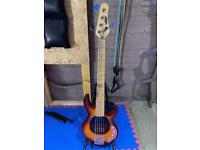 Vintage 5 string Bass Guitar swap for 4 string Bass