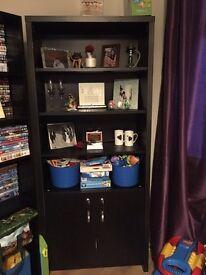 black furniture set. Cabinet. Storage unit
