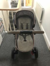 Mothercare orb in grey includes car seat, isofix, adaptors and more