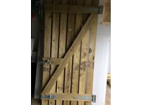 Wooden Garden Gate With Fixings