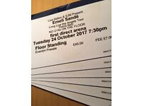 GENERAL ADMISSION STANDING TICKETS / EMELI SANDE / FIRST DIRECT ARENA / LEEDS / 24TH OCT