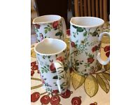 3 pretty jugs
