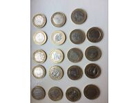 Collection of rare £2 pound coins and 50 pences
