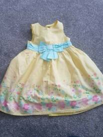 Girl's yellow floral dress age 2-3 years