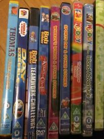 Bundle of 9 Kids DVDs