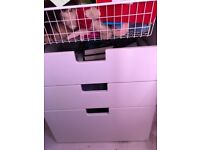 IKEA children's wardrobe with 3 drawers