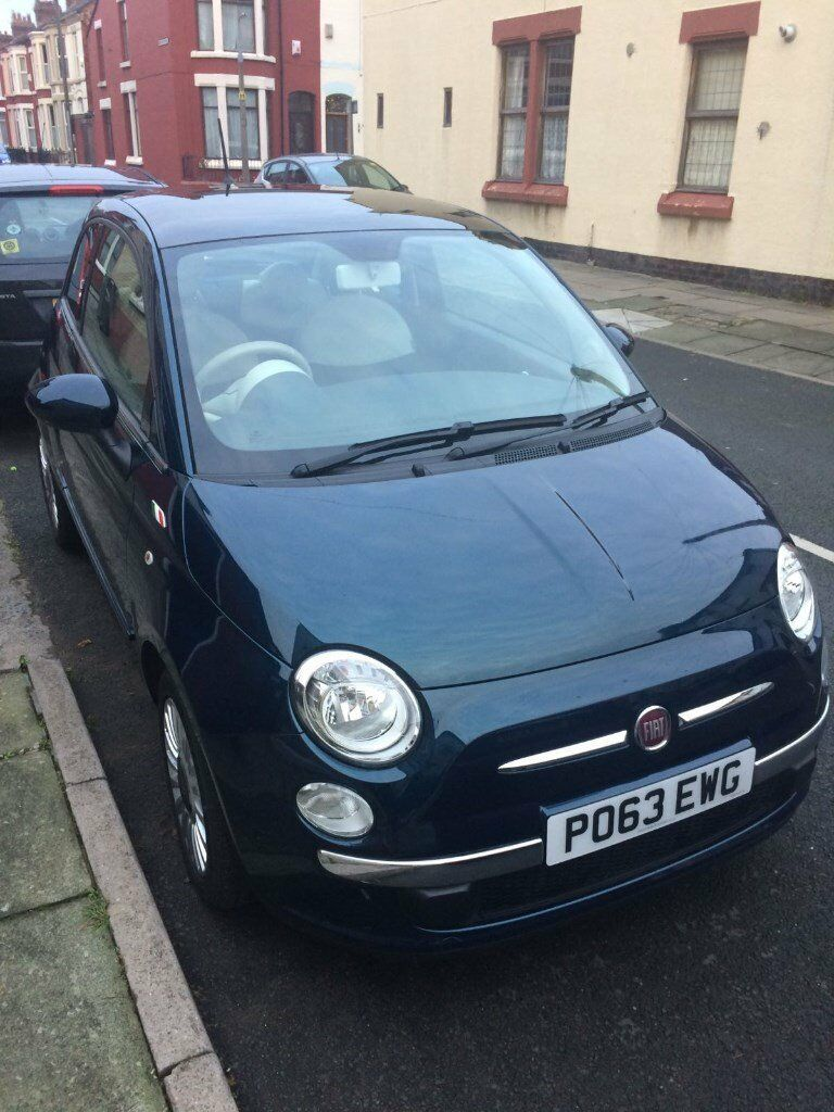 epic blue 63 plate fiat 500 lounge one owner 18 000 miles full fiat service history in. Black Bedroom Furniture Sets. Home Design Ideas