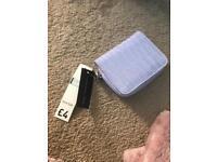 Purple faux leather purse / wallet