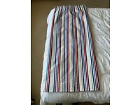 Stripe pencil pleat curtains with black out lining