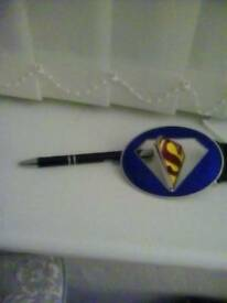 Superman leather belt