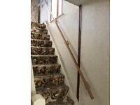 Pine hand rail