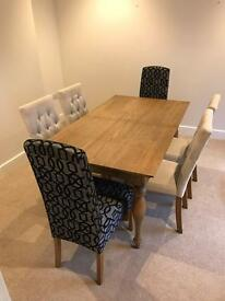 Dining table and 6 chairs (from next)