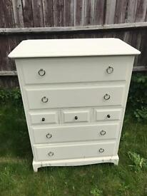 Up Cycled Vintage Stag Tall Chest of Drawers (Can Deliver)