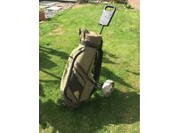 Golf bag and Titleist rolley