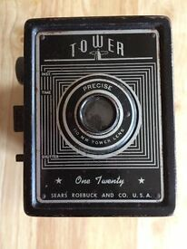Vintage Camera Tower One Twenty, Precise 110mm Tower Lens, Sears Roebuck and Co U.S.A.