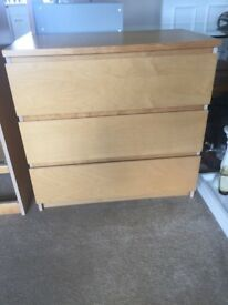 2 x IKEA Drawers Wide and Tall set