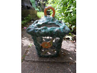 A Lovely Vintage Ceramic Decorative Amalfi Italy Ceiling Light-See Pictures-Collection