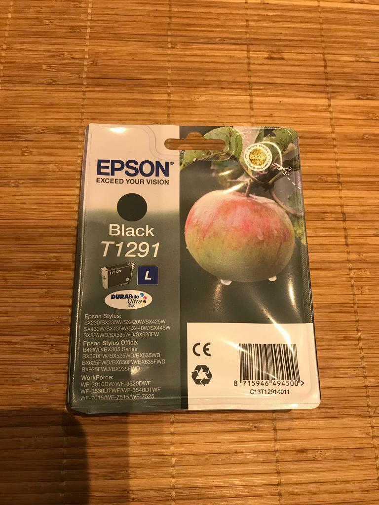 Brand New and Sealed Epson T1291 Black Ink Cartridge