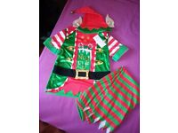 Children's Christmas 3-piece Elf Dress Up/Costume Age 5-6