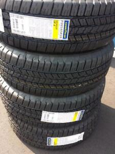BRAND NEW WITH LABELS HIGH PERFORMANCE GOODYEAR WRANGLER SRA 265 / 65 / 18 ALL SEASON TIRE SET OF FOUR
