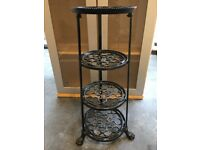 Le Creuset 4tier decorative metal saucepan stand