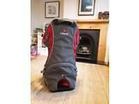 Little life backpack carrier perfect condition with sun sheild and rain cover.