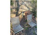 Teak Garden Chairs x4