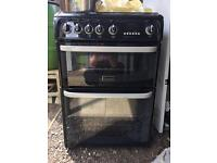 Black Cannon Chesterfield Gas Cooker... 60cm Wide... ** DELIVERY AVAILABLE **