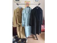Three long coats size 16 - 18 buyer to collect