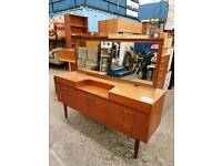 Teak dresser table with drawers