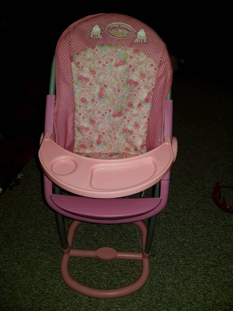 Baby Annabelle highchair