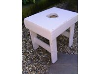 Urban chic wooden milking stool